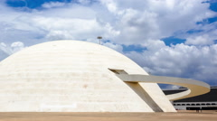 Timelapse View of the National Museum in Brasilia, Brazil Stock Footage