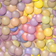 Illustration of pastel colored balls. Digital painting Stock Illustration