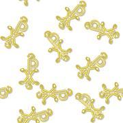 Seamless labarum pattern in yellow spectrum on white - stock illustration