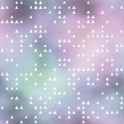 Seamless pattern with triangles motif. Pastel colored background - stock illustration