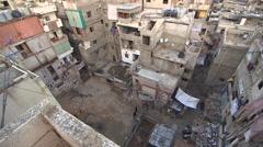 Stock Video Footage of Palestinian refugee neighborhood in Beirut, Lebanon