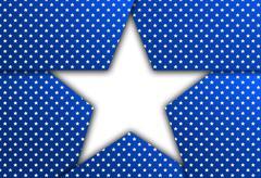 White star on a blue background - stock illustration