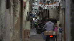 Busy street in Beirut, Lebanon - stock footage