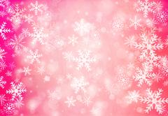Christmas background with snowflakes. - stock illustration