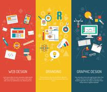 Designer Banner Set - stock illustration