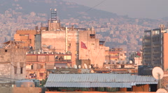 Roofs of Beirut Stock Footage