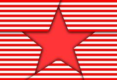 Image red patriotic star. - stock illustration
