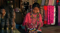 Ethnic People. Kayor and Palong Woman from Ethnic Group of Hill Tribe Minority Stock Footage
