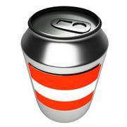 Austrian can, 3d - stock illustration