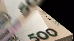Counting Ukrainian Hryvnia Stock Footage