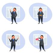 Business and Finance Icons - stock illustration