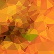 Deep Carrot Orange Abstract Low Polygon Background - stock illustration