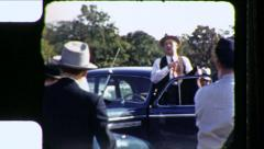 Politician Union Boss Political Rally Meeting 1940s Vintage Film Home Movie 8542 - stock footage