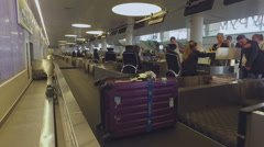 Leaving luggage in the baggage area of the airport_1 Stock Footage