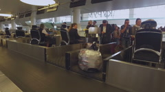 Leaving luggage in the baggage area of the airport 2 Stock Footage
