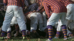 Eton Wall Game St Andrews Day 2015. Close up of match action. Stock Footage