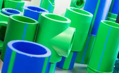 Polymer pipes - stock photo