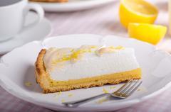 Lemon cheesecake delicious - stock photo