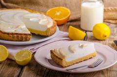Lemon cheesecake delicious Stock Photos