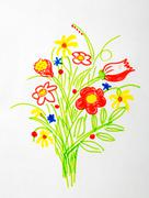 Stock Illustration of Nice bouquet of flower drawing