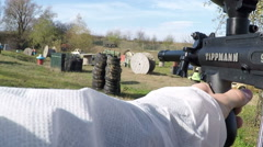 Paintball game Stock Footage
