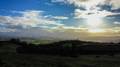Looking over Stirling City Scotland Stock Footage