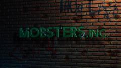 Mobsters, INC. - Mafia Style Drive By Shooting Logo Stinger - stock after effects