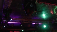 The light equipment at night club Stock Footage