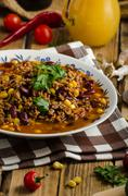 Original Chilli con carne Stock Photos