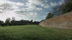 Eton Wall Game St Andrews Day 2015. Extreme wide along the length of the wall. Stock Footage