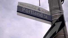 Portland St. Street Sign Toronto. Stock Footage