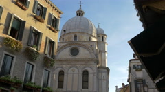 Chiesa di Santa Maria dei Miracoli in Venice Stock Footage
