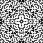 Geometric Intricate Check Pattern - stock illustration