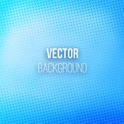 Blue Blurred Background With Halftone Effect Stock Illustration