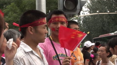 Chinese patriotism, Beijing Olympics - stock footage