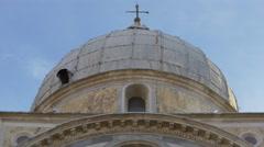 Close up view of Chiesa Santa Maria dei Miracoli in Venice Stock Footage