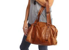 Shopping woman with a handbag. Stock Photos