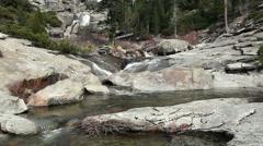 Upper Chilnualna Falls And River Yosemite California Stock Footage