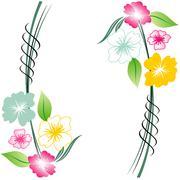 Floral background,floral card Stock Illustration