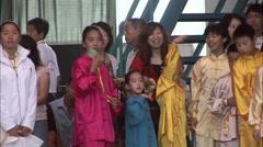 Chinese kids, kung fu uniforms, China Stock Footage