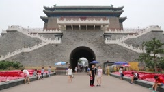 Front Gate at the Tiananmen Square in Beijing Stock Footage