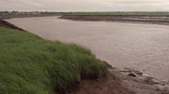 Moncton's Petitcodiac River. Tidal Bore. Stock Footage