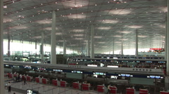 Beijing Capital Airport, Terminal 3, China Stock Footage
