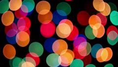 Defocused colorful lights changing form - stock footage