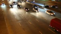 Road traffic in nighttime Stock Footage