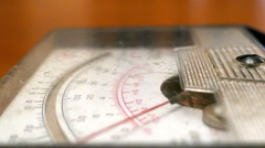 The Instrument (Voltmeter) With a Mechanical - stock footage