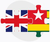 Switzerland and Togo Flags Stock Illustration
