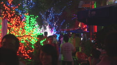 Sanlitun bar street, Beijing, China - stock footage