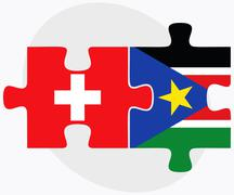 Switzerland and South Sudan Stock Illustration