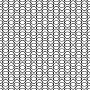 Black and white seamless ellipse pattern Stock Illustration